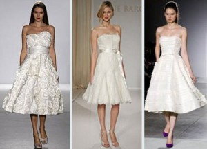 knee-length wedding dresses