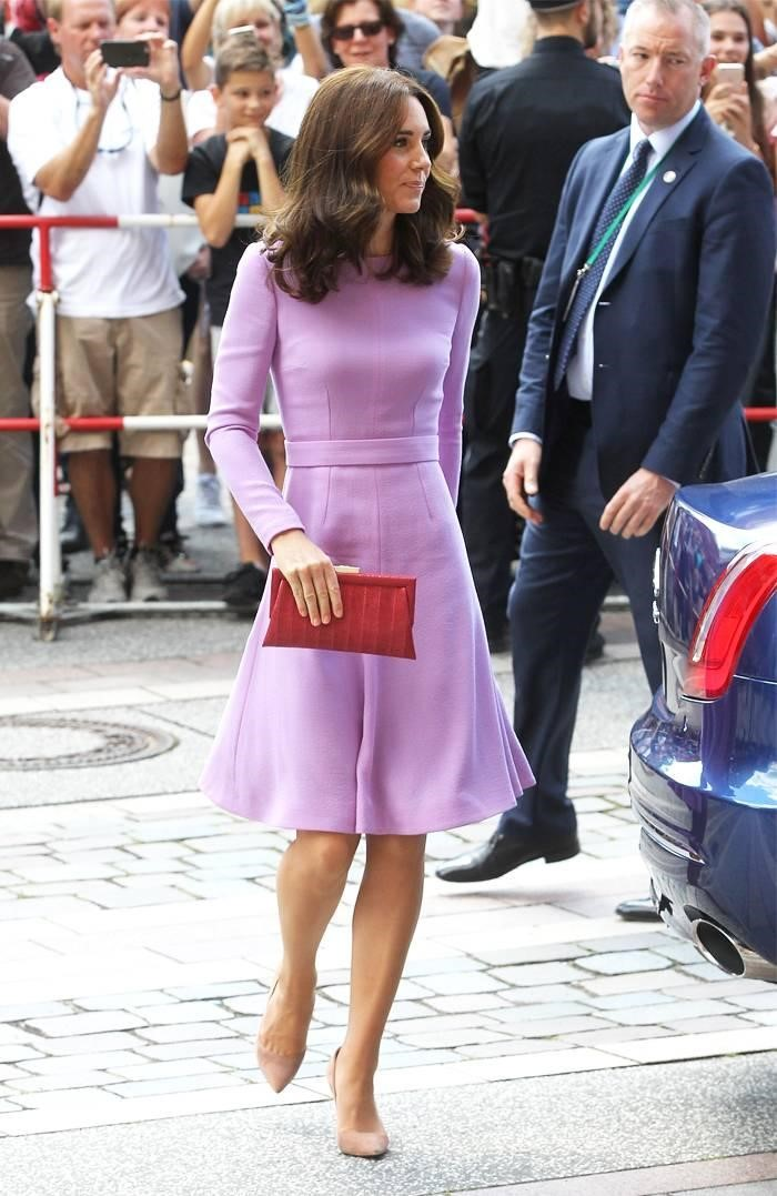 Lilac and Red dress