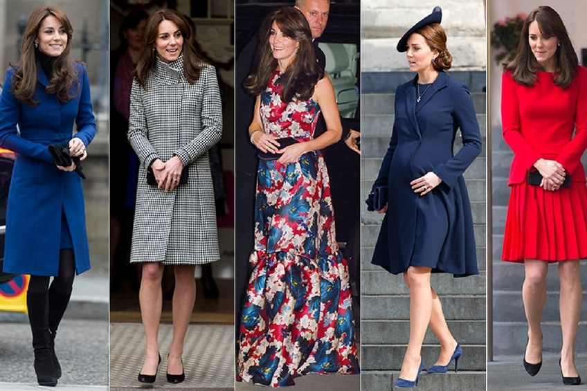 Kate Middleton in fashion dresses
