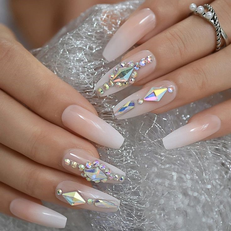 Coffin Wedding Nails: Most Attractive Nail Art Design